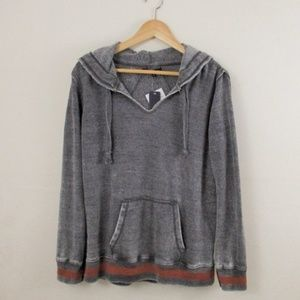 Ocean Drive Burnout Hoodie Gray Size Small